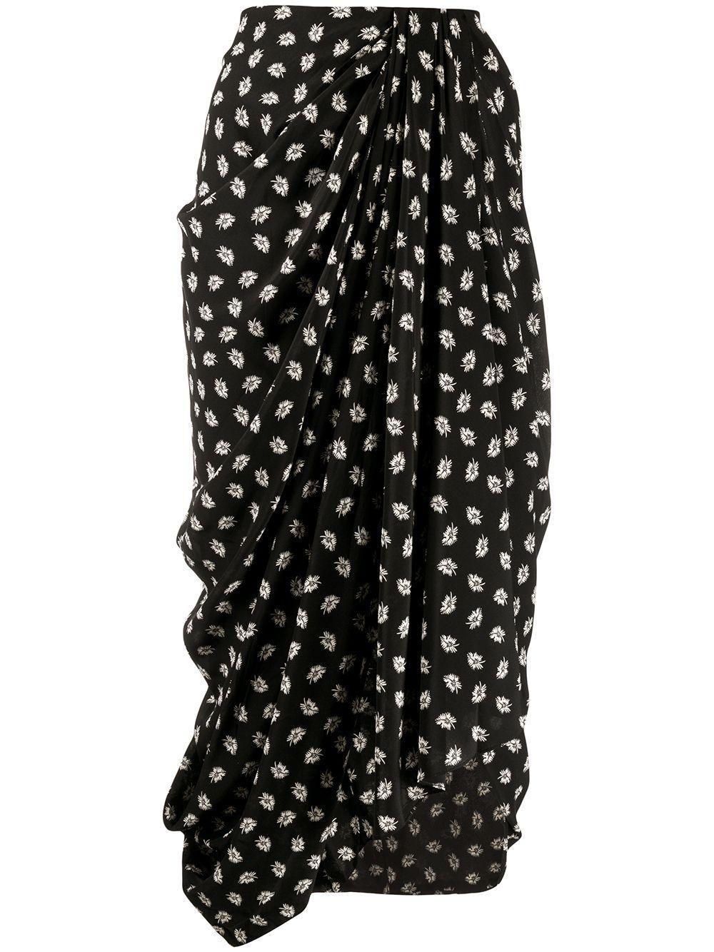 Isabel Marant юбка миди с цветочным принтом