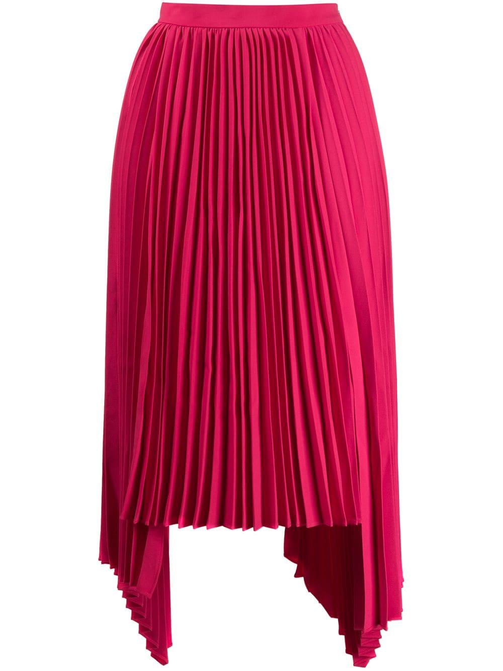 Juun.J плиссированная юбка асимметричного кроя