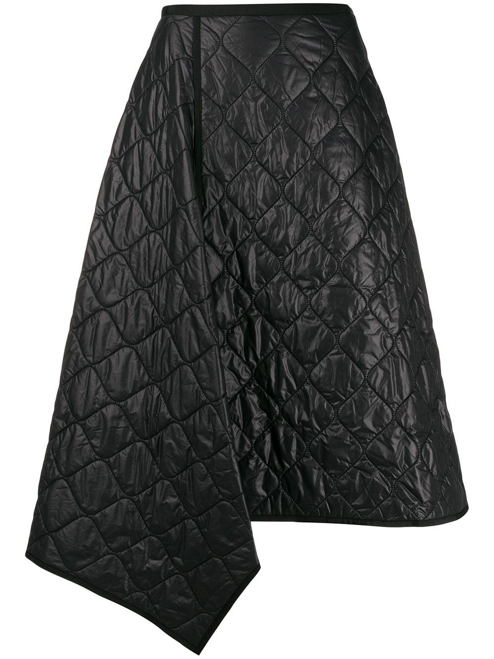 Juun.J textured asymmetric hem skirt