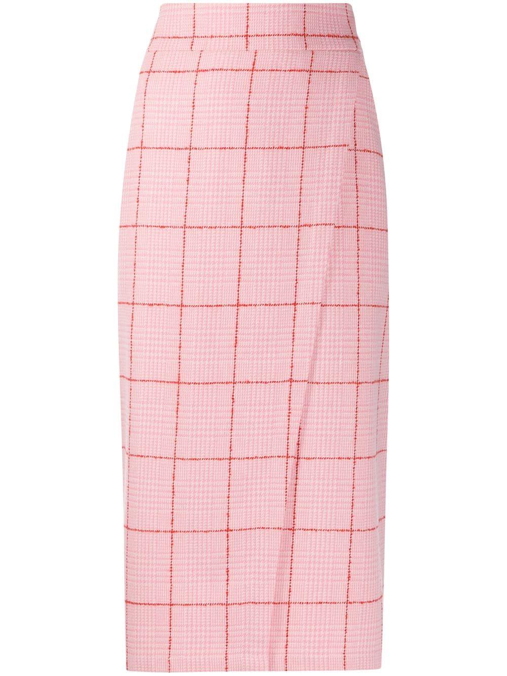 L'Autre Chose checked wrap skirt