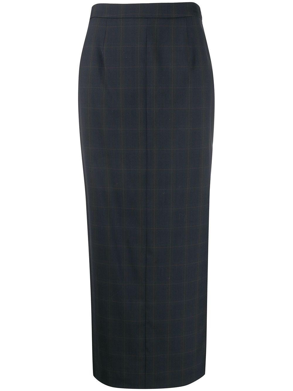 Maison Margiela длинная юбка-карандаш в клетку