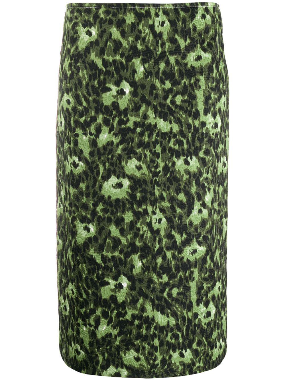 Marni юбка-карандаш с абстрактным принтом