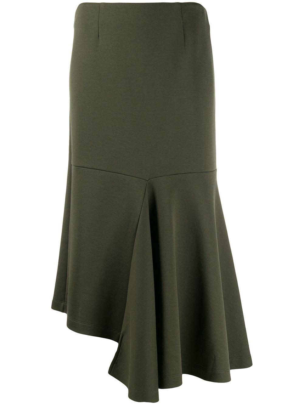 Marni юбка миди асимметричного кроя с драпировкой