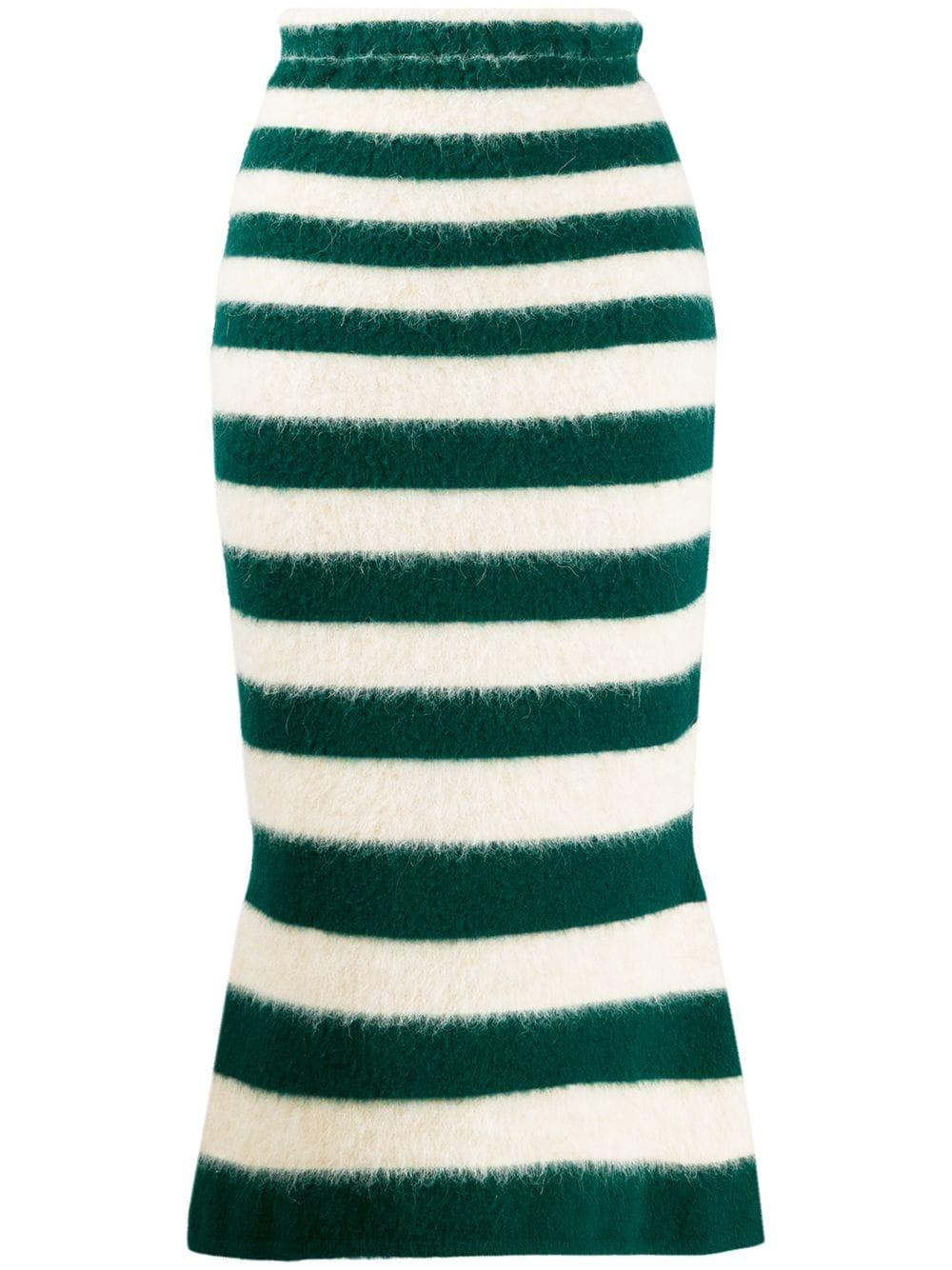 Marni юбка средней длины в полоску