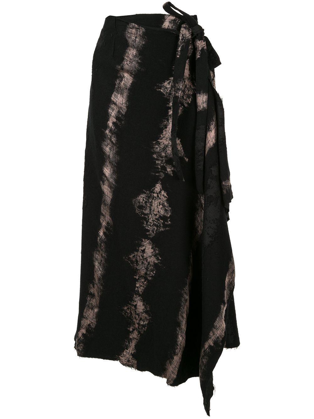 Masnada юбка асимметричного кроя с принтом тай-дай