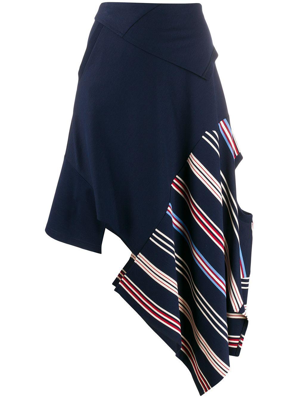 Monse юбка асимметричного кроя в полоску