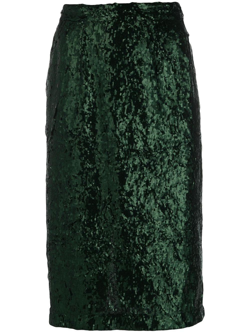 Nº21 юбка-карандаш с пайетками