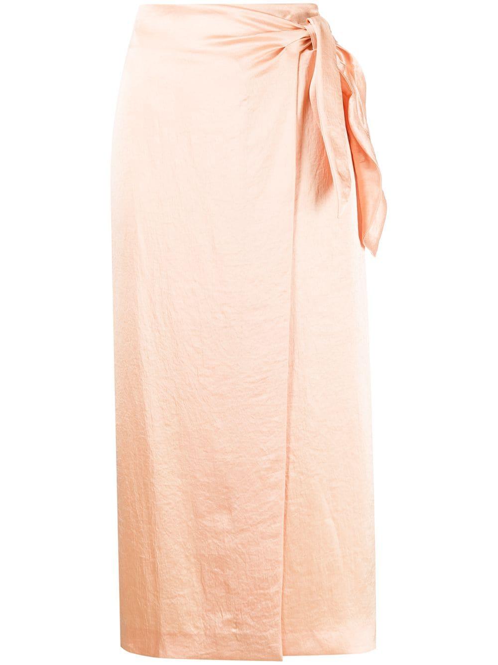 Nanushka tie fastened wrap skirt