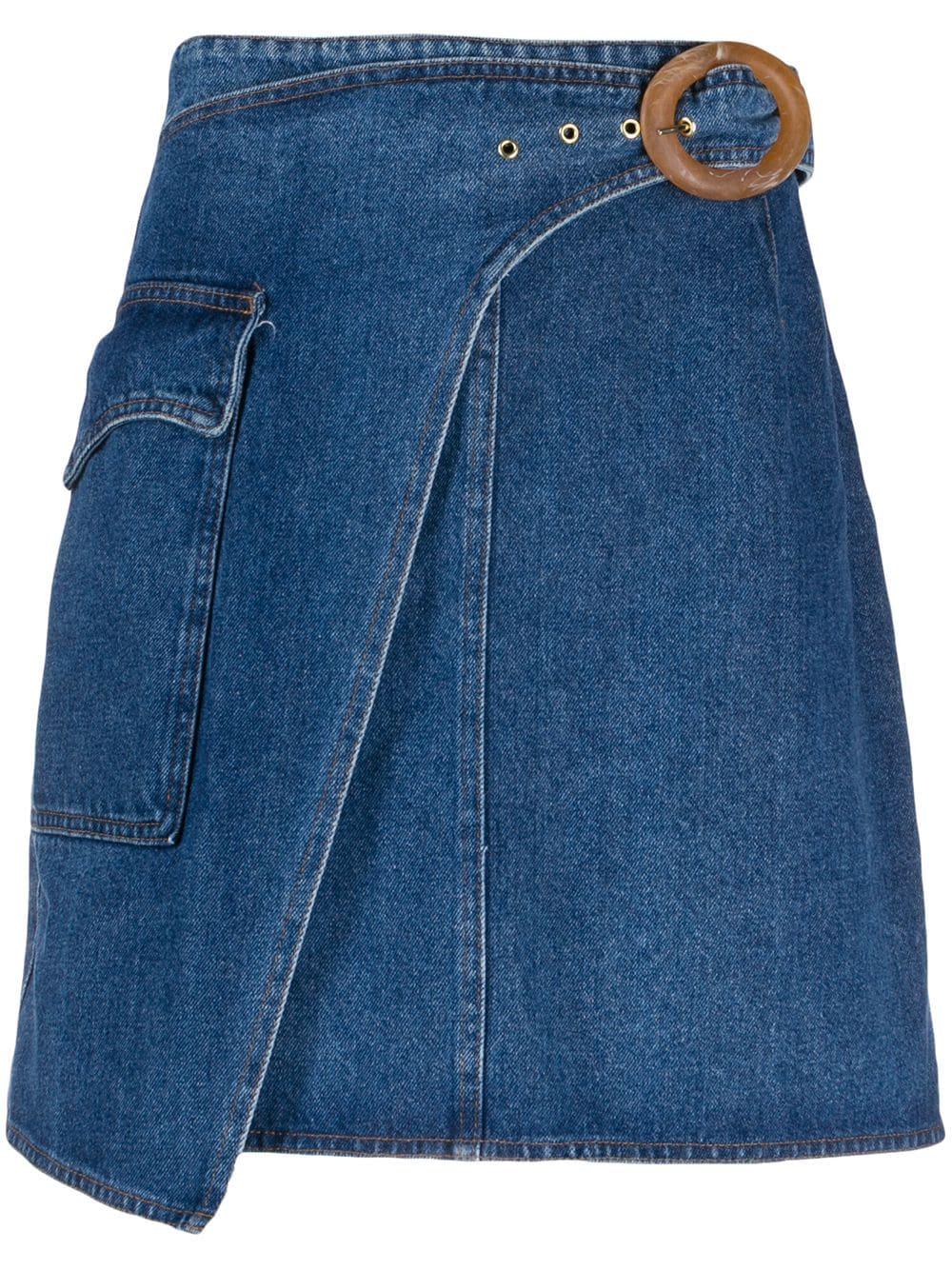 Nanushka юбка мини с запахом