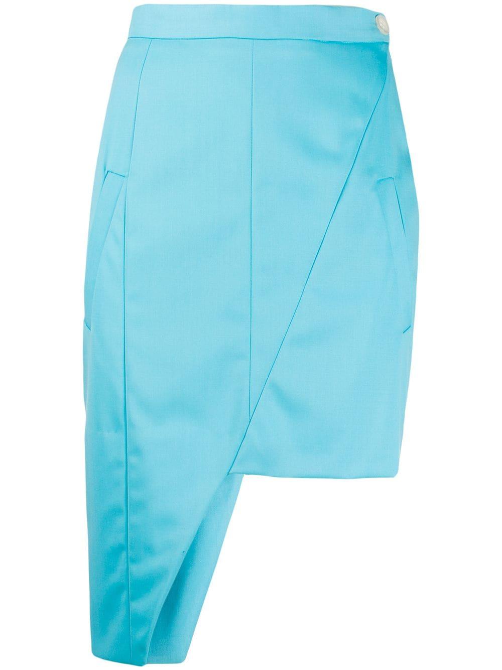 Natasha Zinko юбка асимметричного кроя со вставками