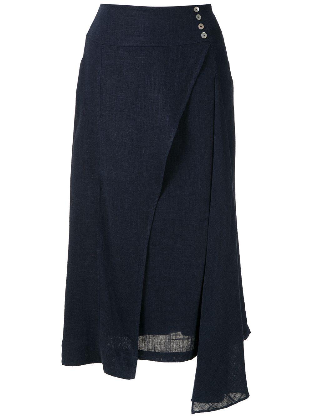Olympiah юбка миди Ylang асимметричного кроя