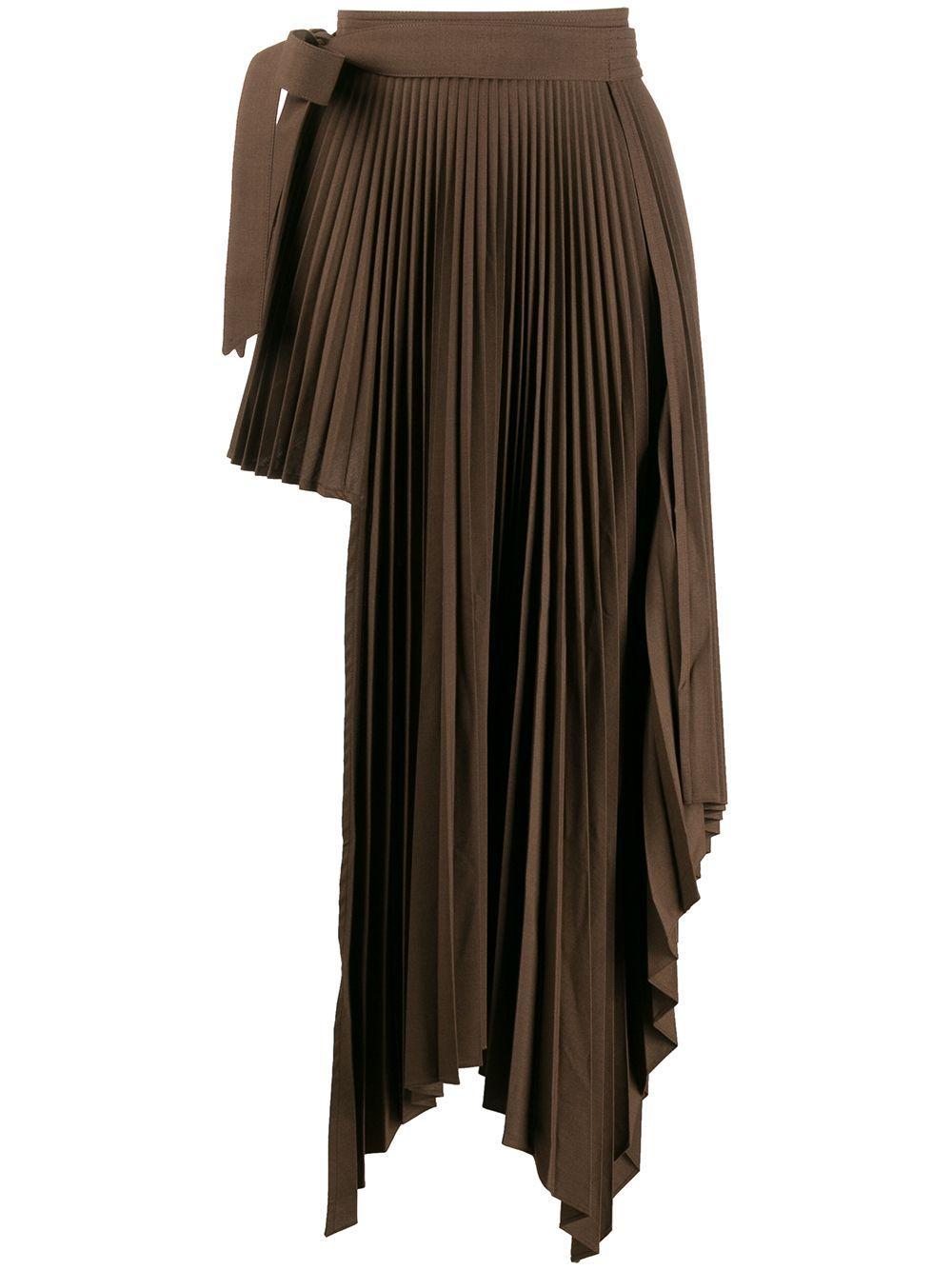 Peter Do юбка асимметричного кроя со складками
