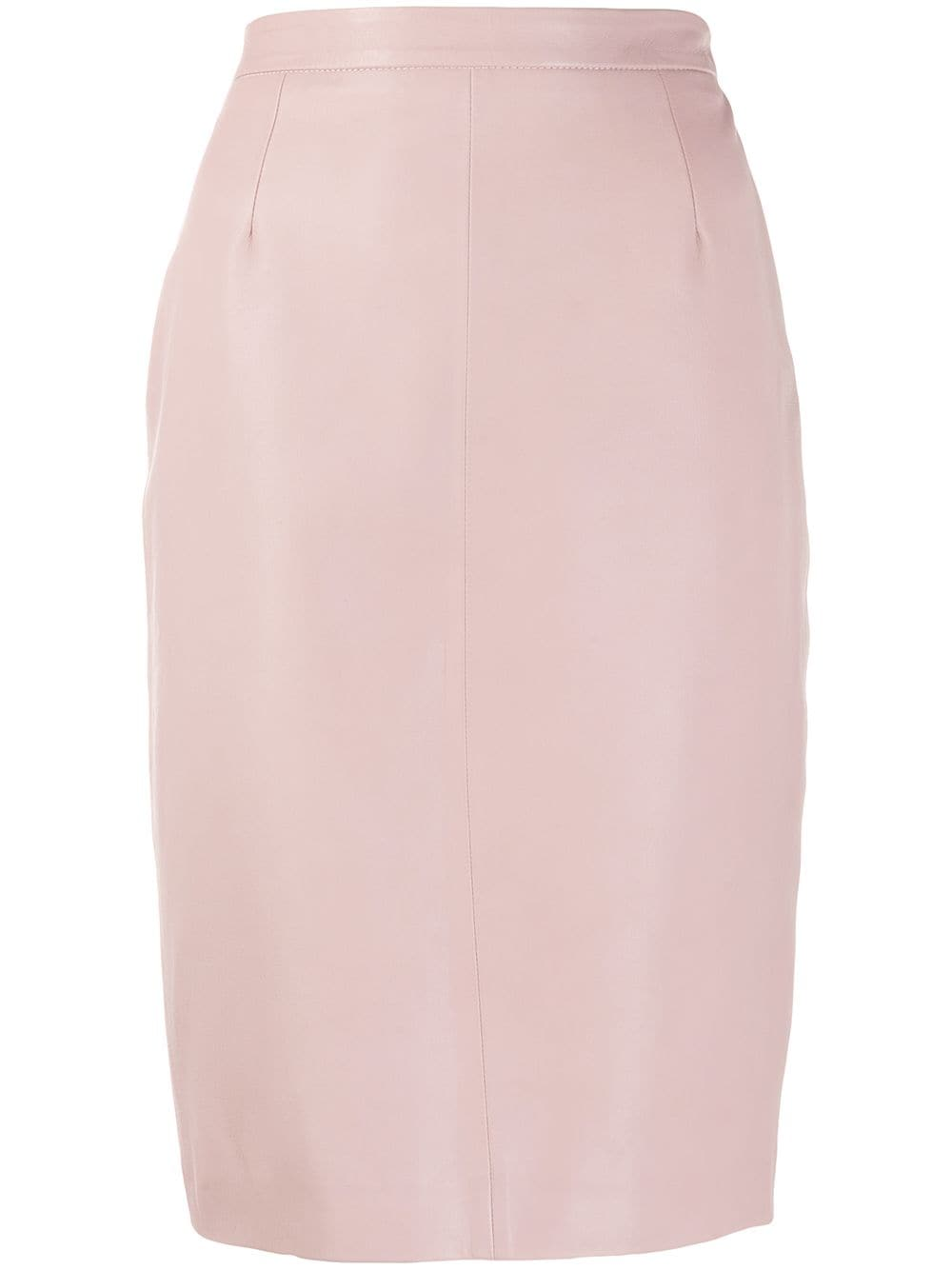 Red Valentino leather pencil skirt