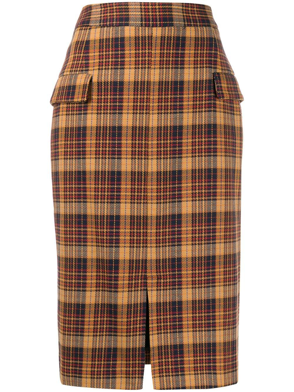 Remain checked pencil skirt