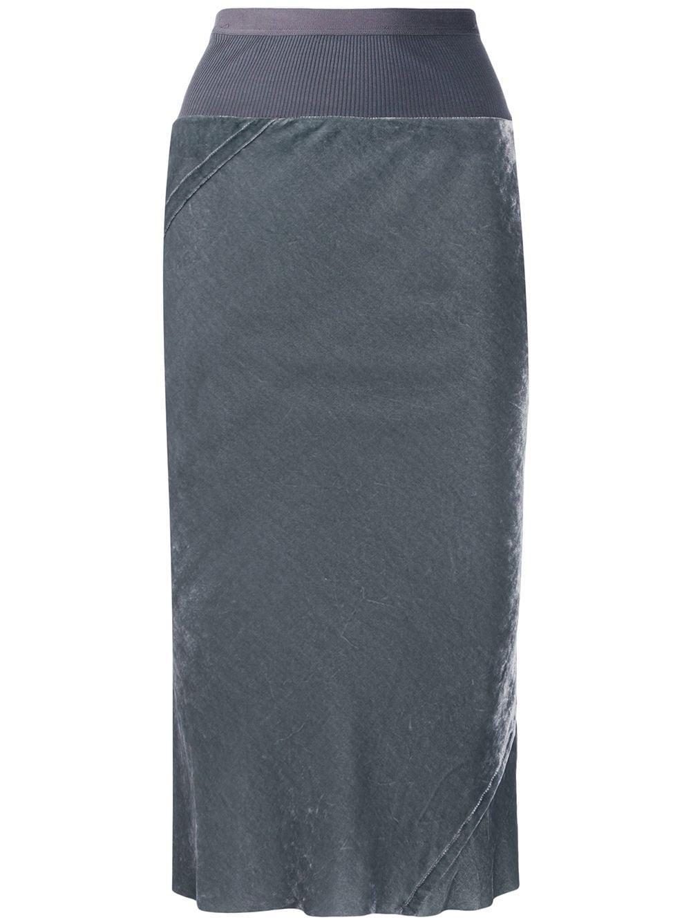 Rick Owens бархатная юбка-карандаш