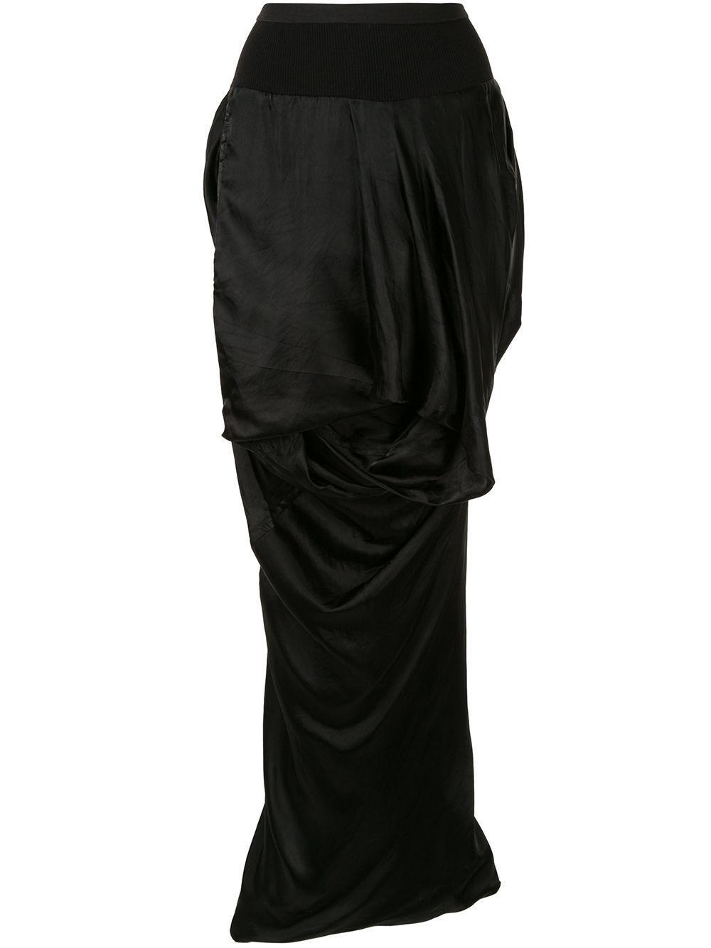 Rick Owens юбка асимметричного кроя с драпировкой