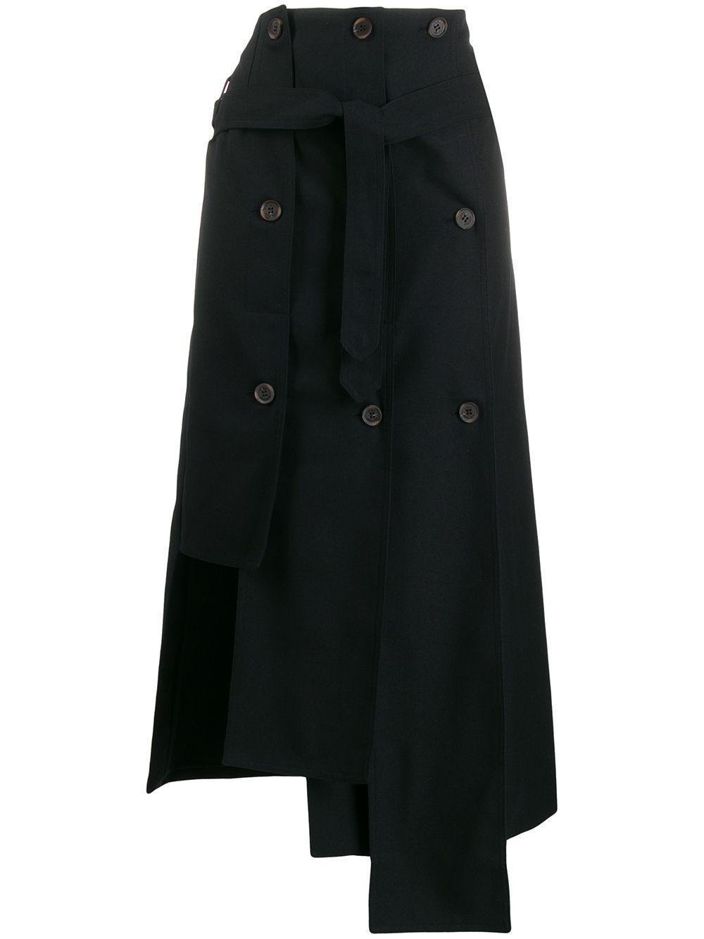 Rokh юбка асимметричного кроя с пуговицами