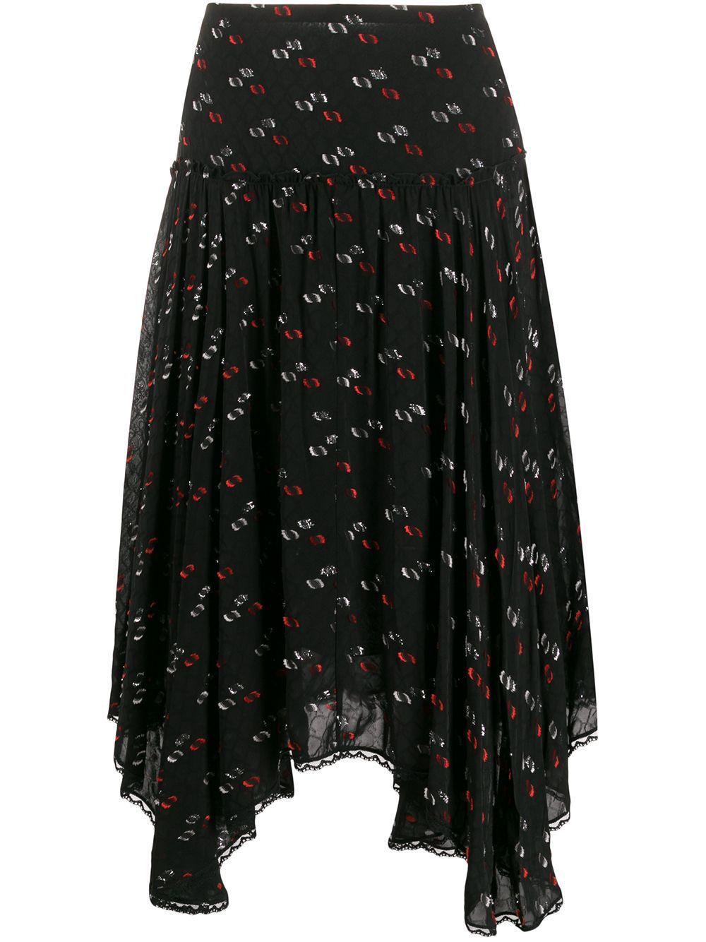 See By Chloé handkerchief-hem fil coupé skirt