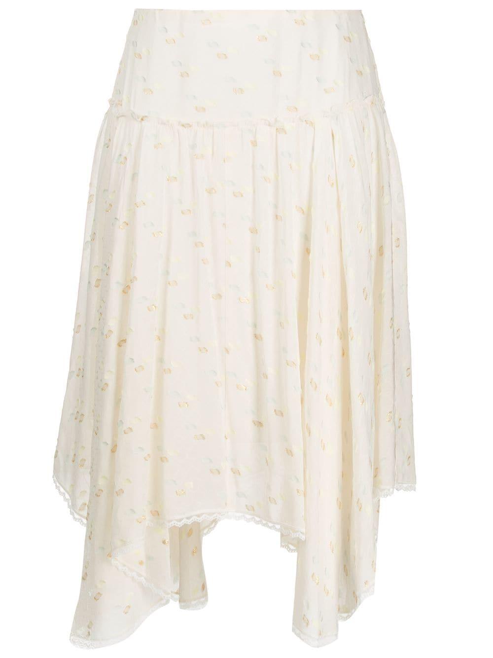 See By Chloé юбка из ткани филькупе