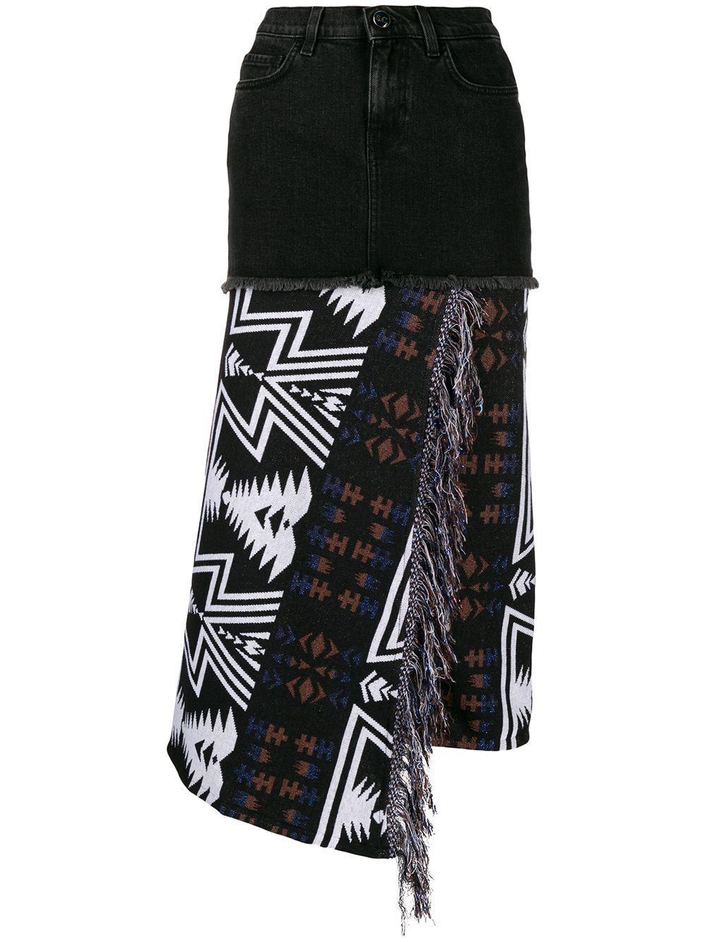 Semicouture многослойная юбка асимметричного кроя