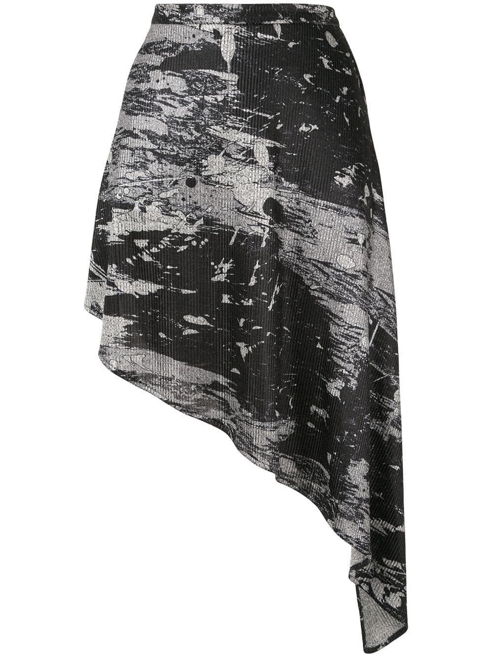 Strateas Carlucci юбка асимметричного кроя с абстрактным принтом