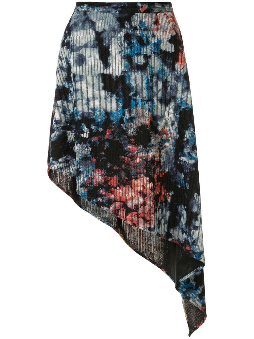 Strateas Carlucci юбка асимметричного кроя с цветочным принтом