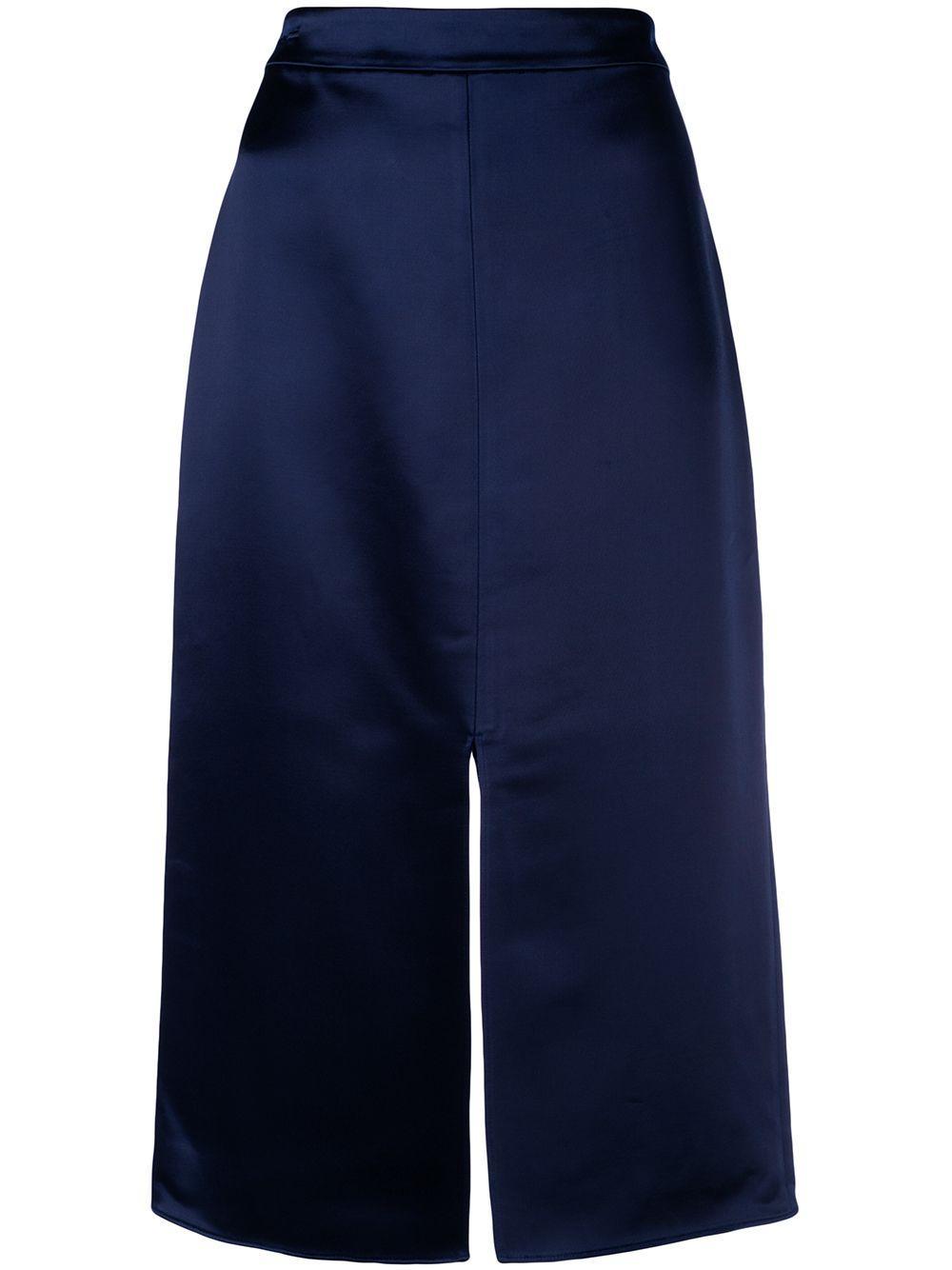 Tibi юбка-карандаш с разрезом спереди