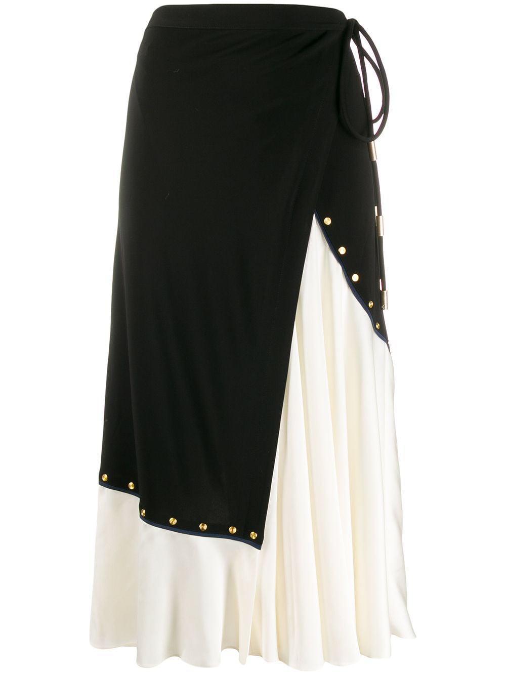 Tory Burch asymmetric wrap midi skirt