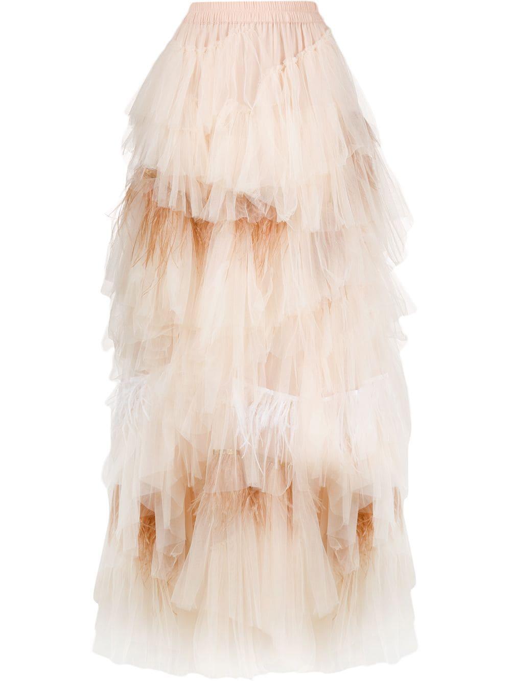 Twin-Set многослойная юбка из тюля