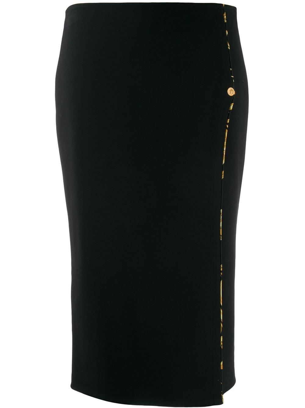 Versace Barocco print lined pencil skirt