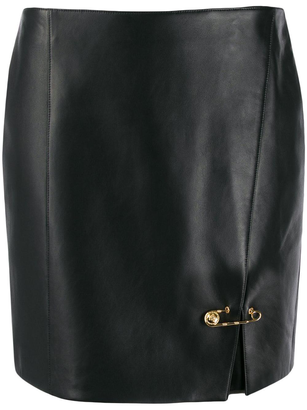 Versace юбка мини с декоративными булавками