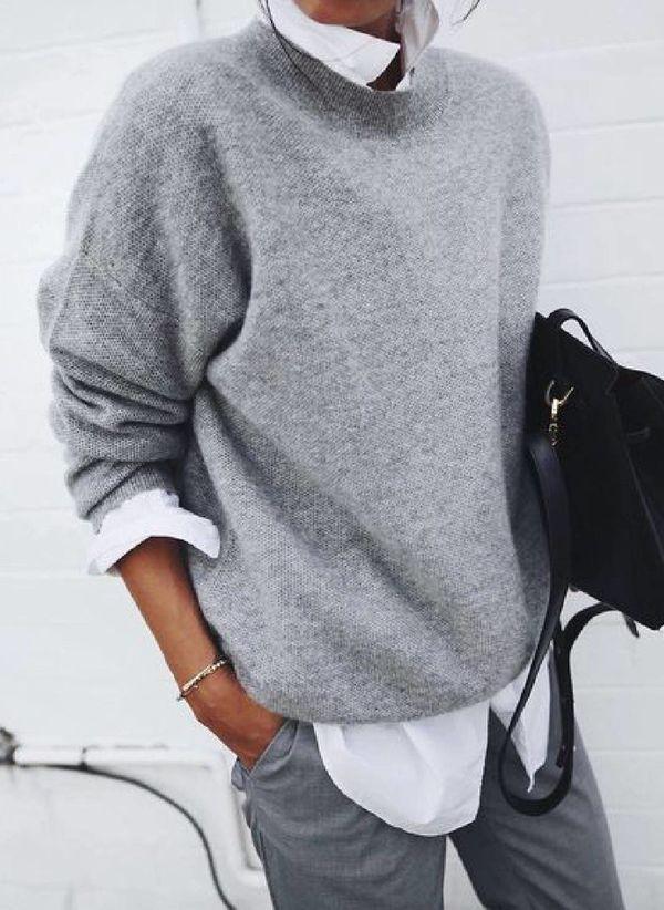Вязаный свитер осень/зима 2019-2020 1365437
