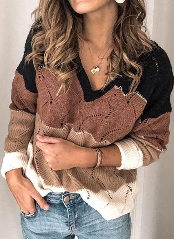 Вязаный свитер осень/зима 2019-2020 1426550