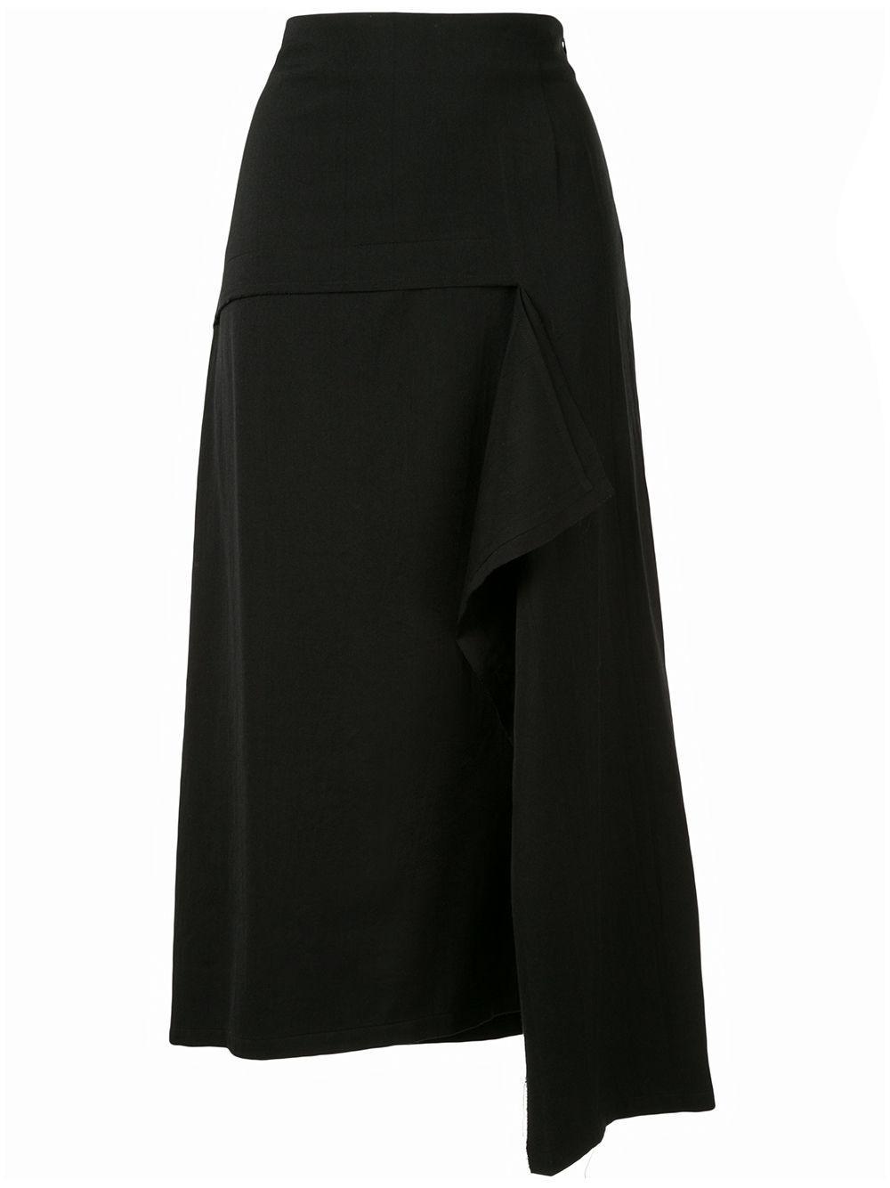 Y's юбка асимметричного кроя с драпировкой