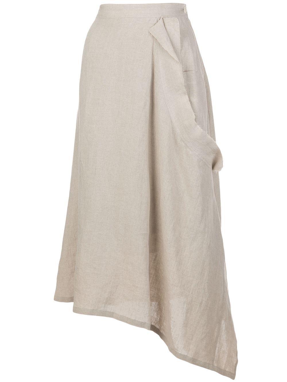 Y's юбка асимметричного кроя с завязками