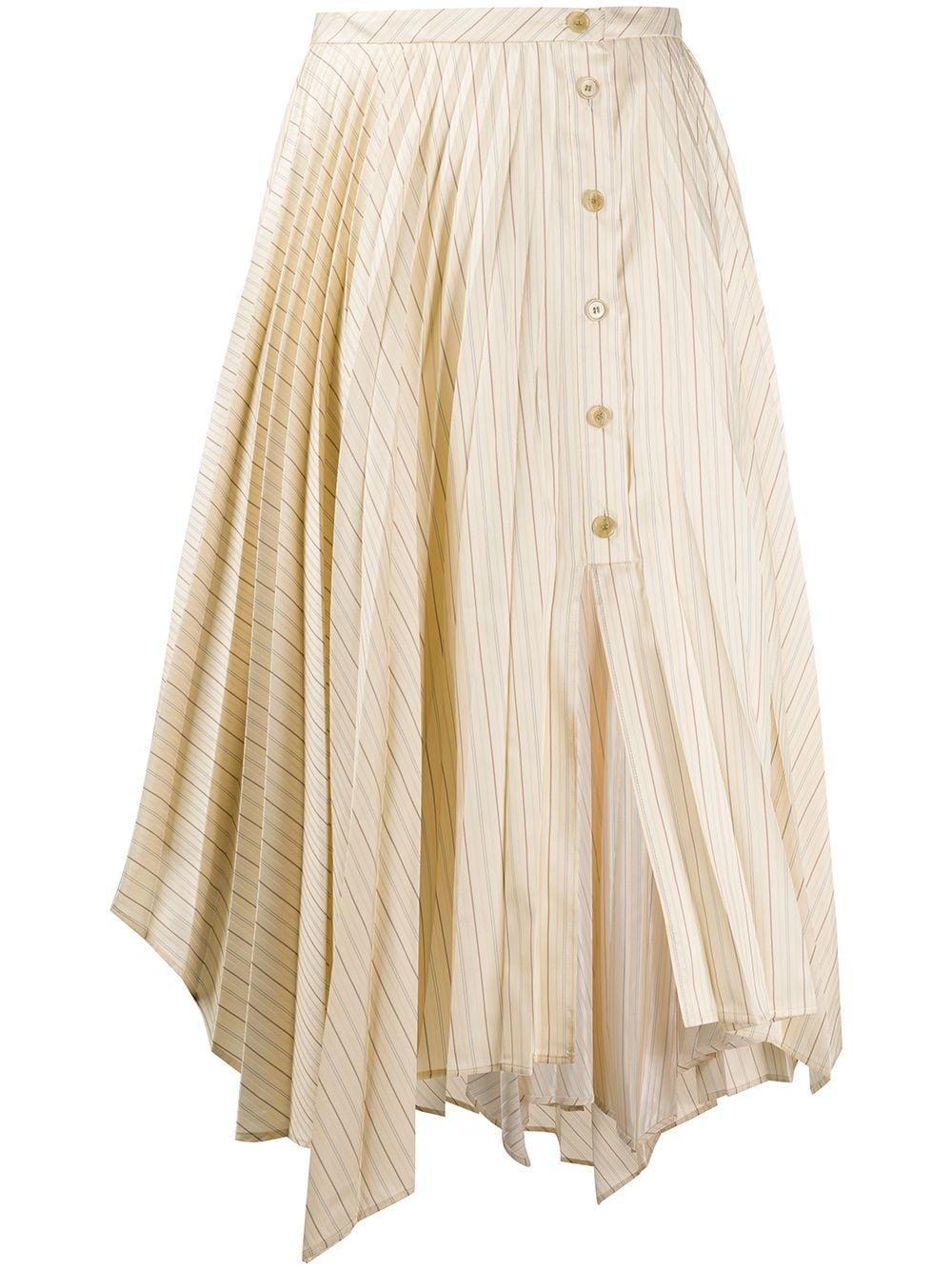 Acne Studios юбка асимметричного кроя в тонкую полоску