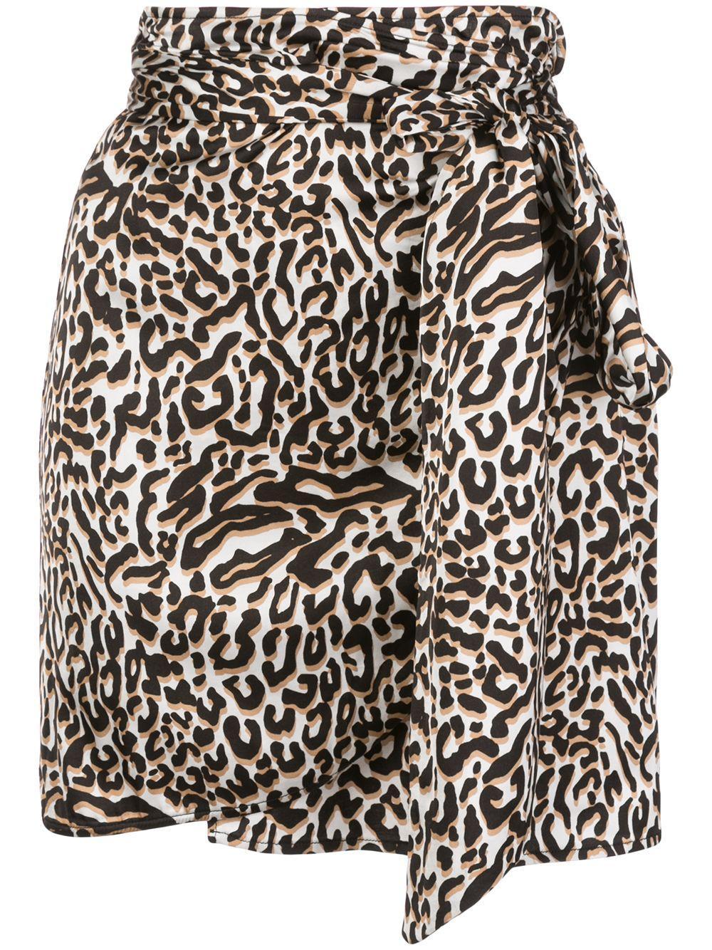 Andamane draped leopard-print mini skirt