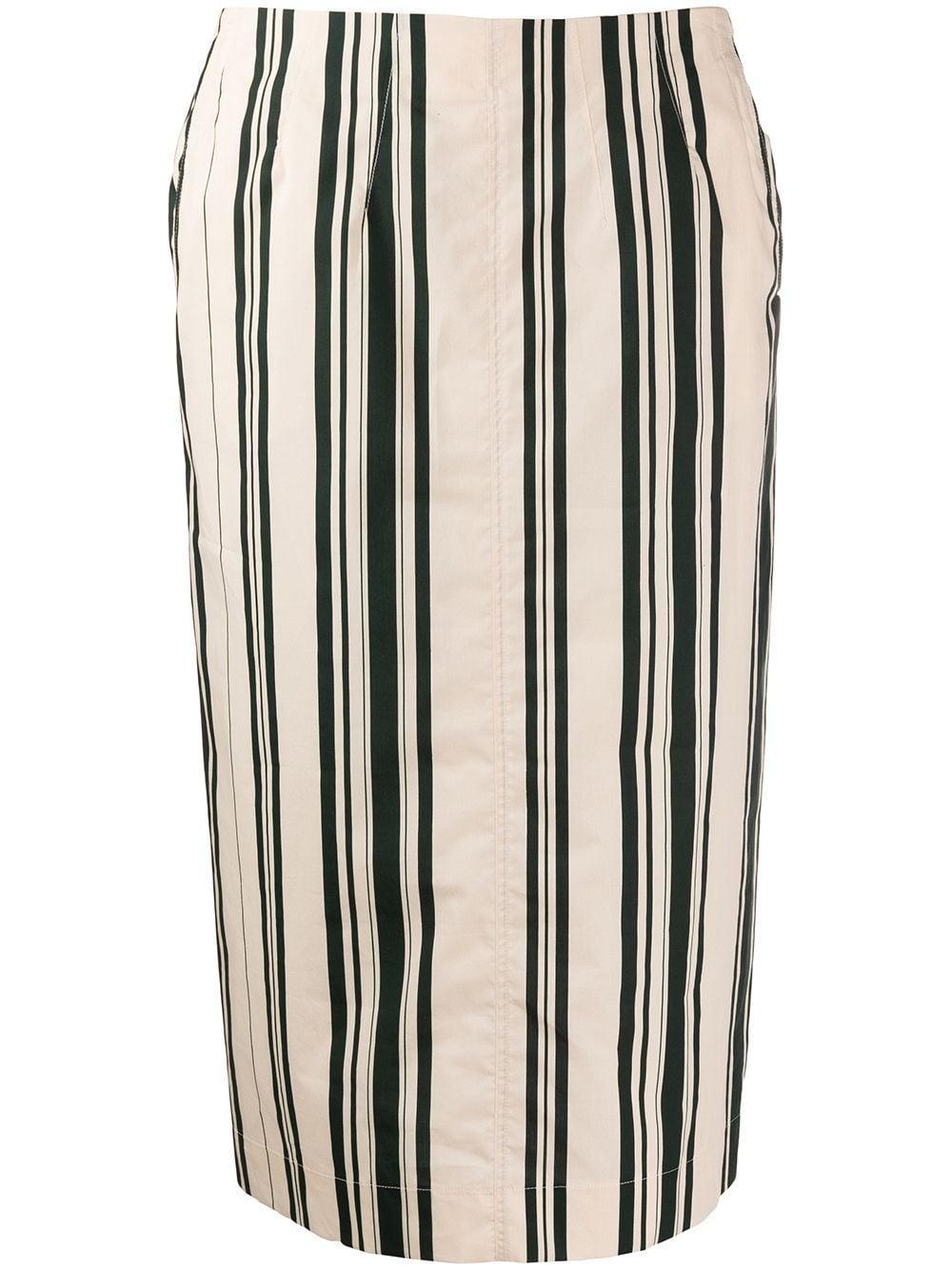 Aspesi юбка-карандаш в полоску