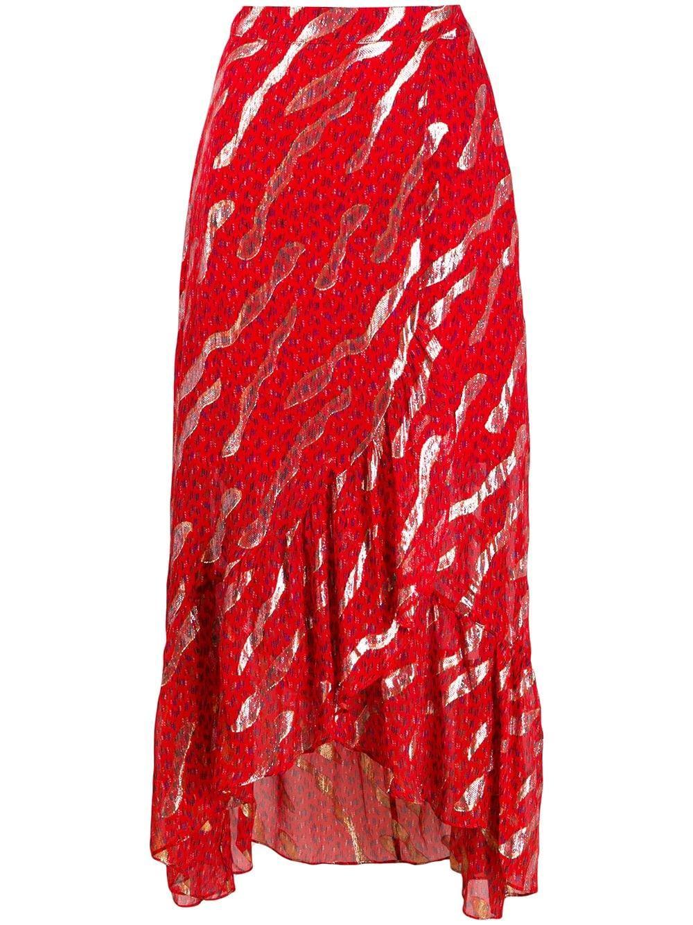 Ba&Sh юбка миди асимметричного кроя