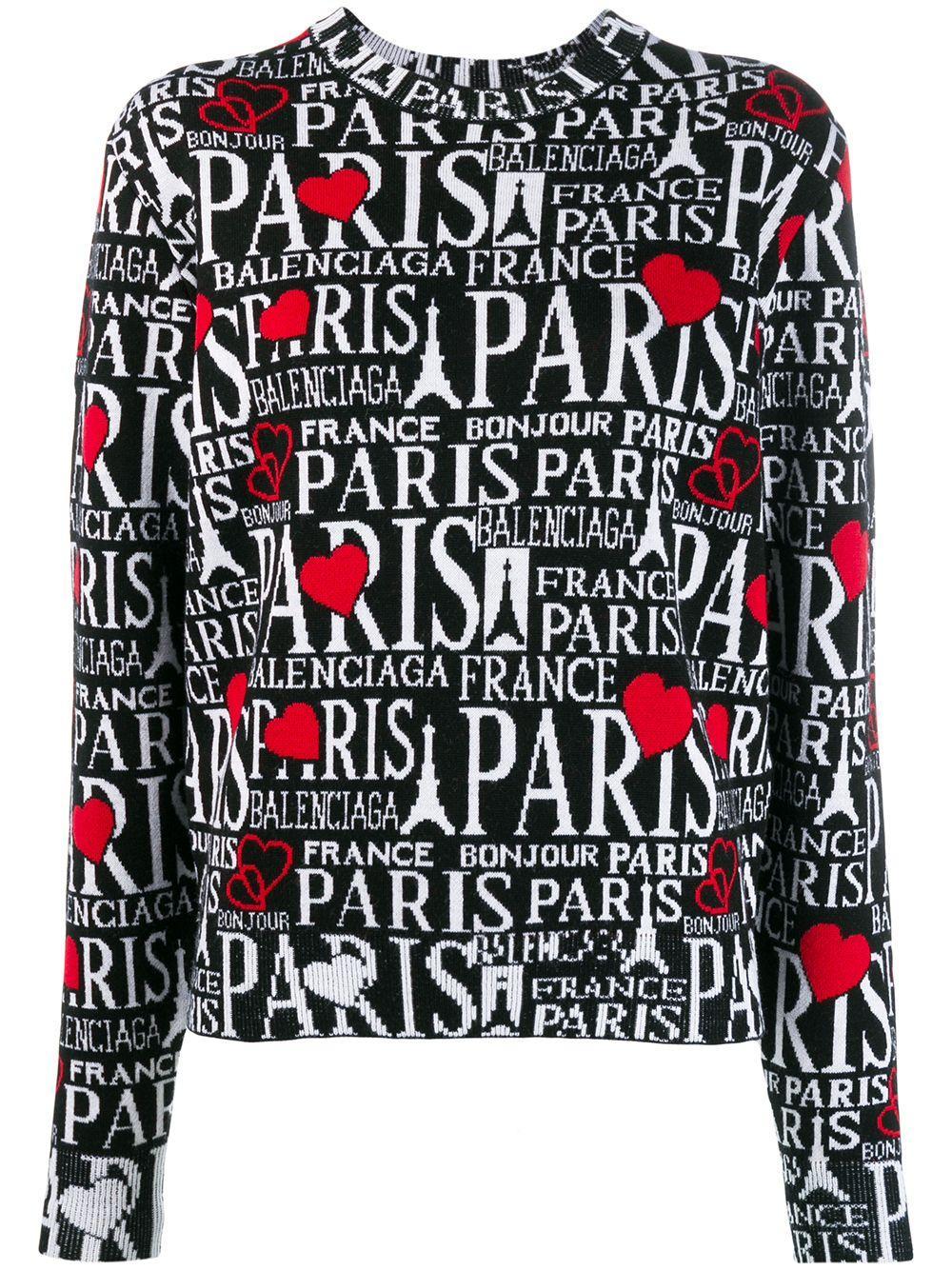 Balenciaga джемпер Bonjour Paris с круглым вырезом