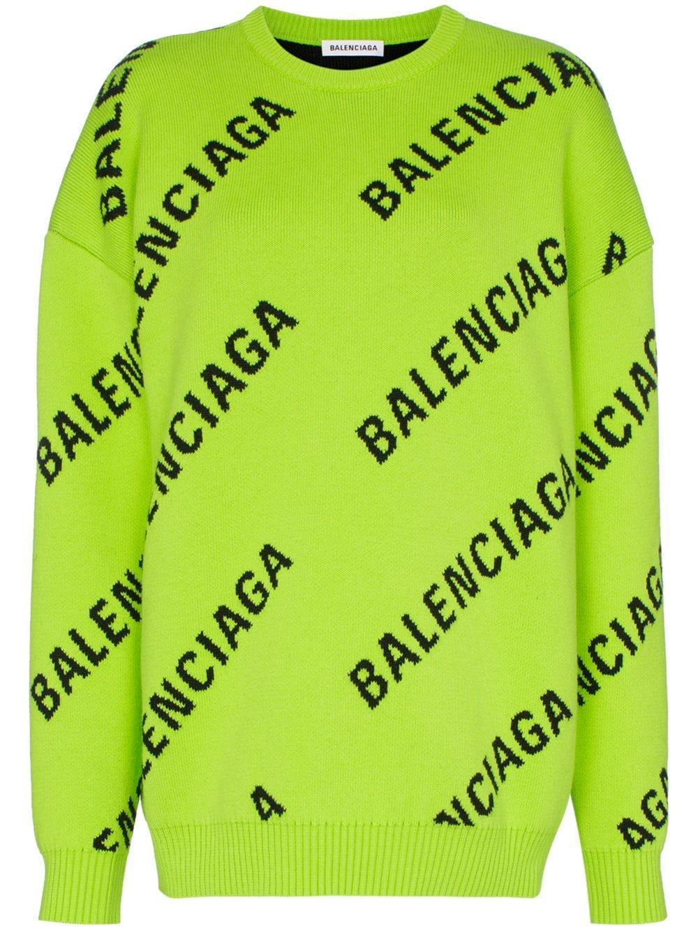 Balenciaga джемпер оверсайз с логотипом
