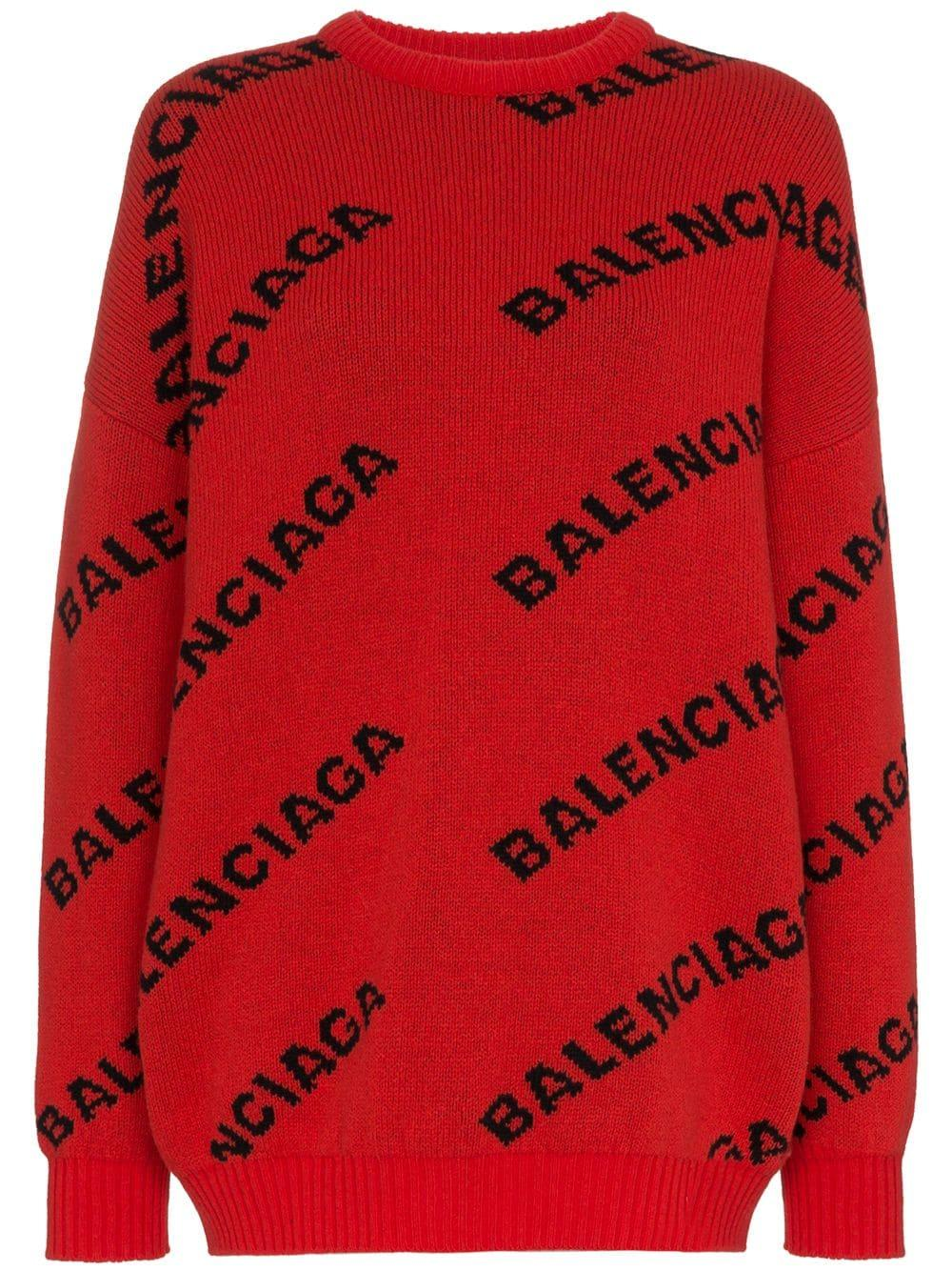Balenciaga свитер с принтом логотипа