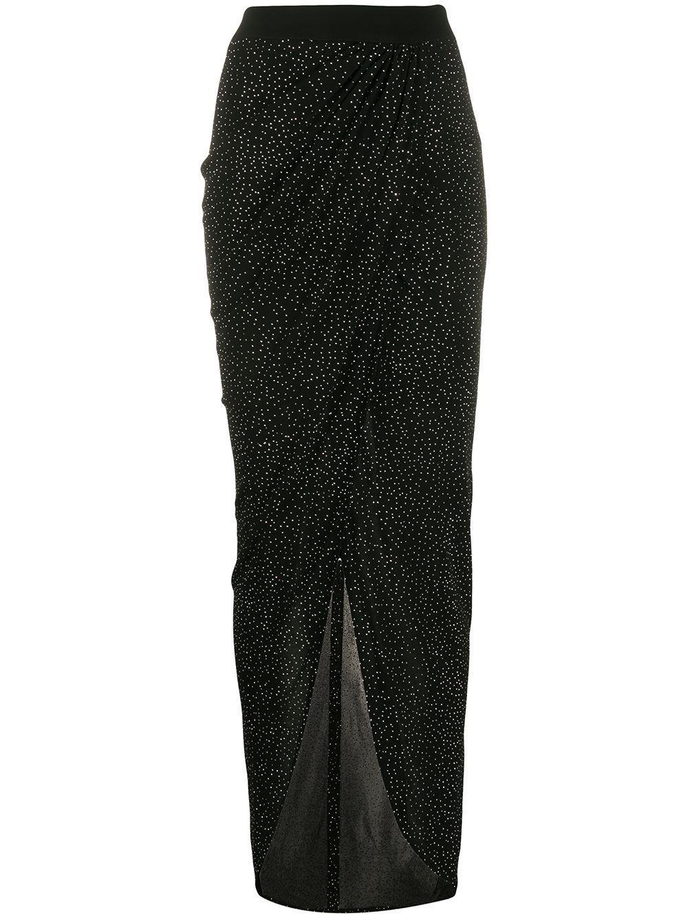 Balmain юбка асимметричного кроя со стразами