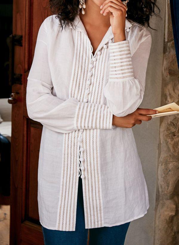 Белая блузка 1405386