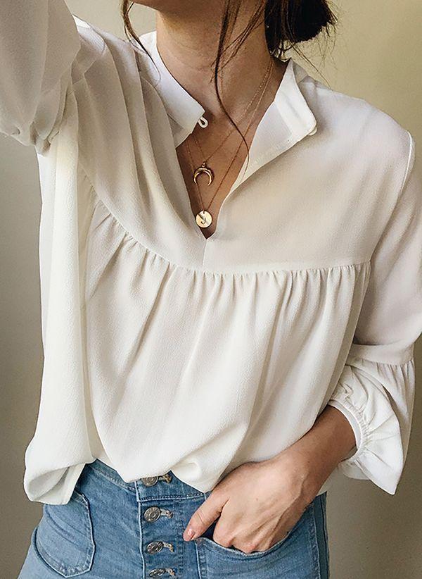 Белая блузка 1452752