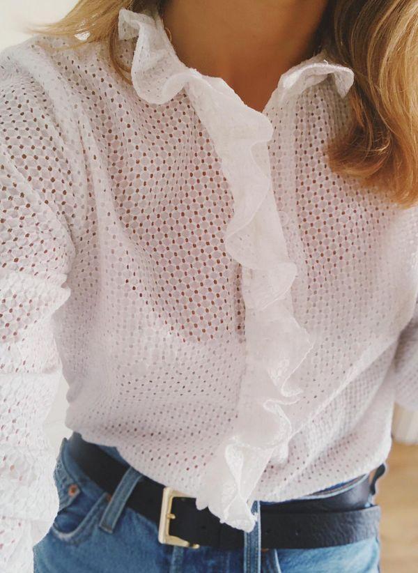 Белая блузка 1454806