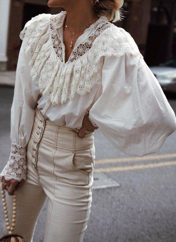 Белая блузка 1460563