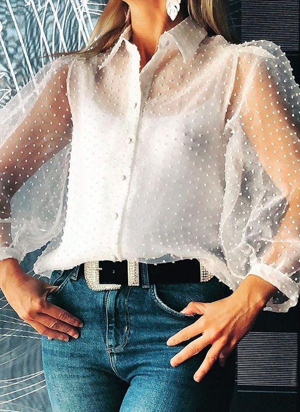 Белая блузка 1461771