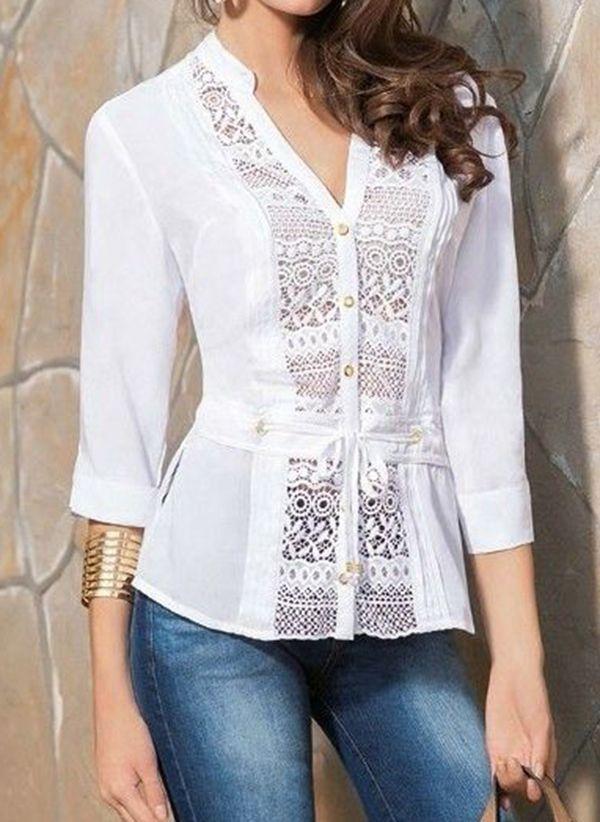 Белая блузка 1464022