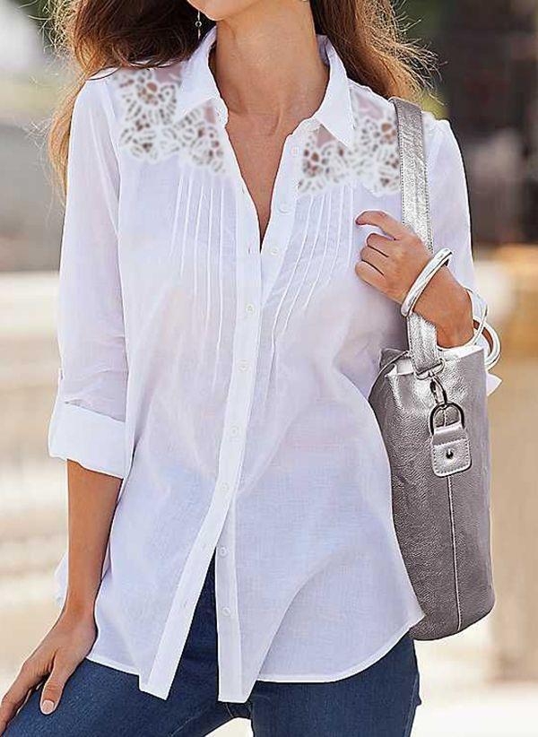 Белая блузка 1464023